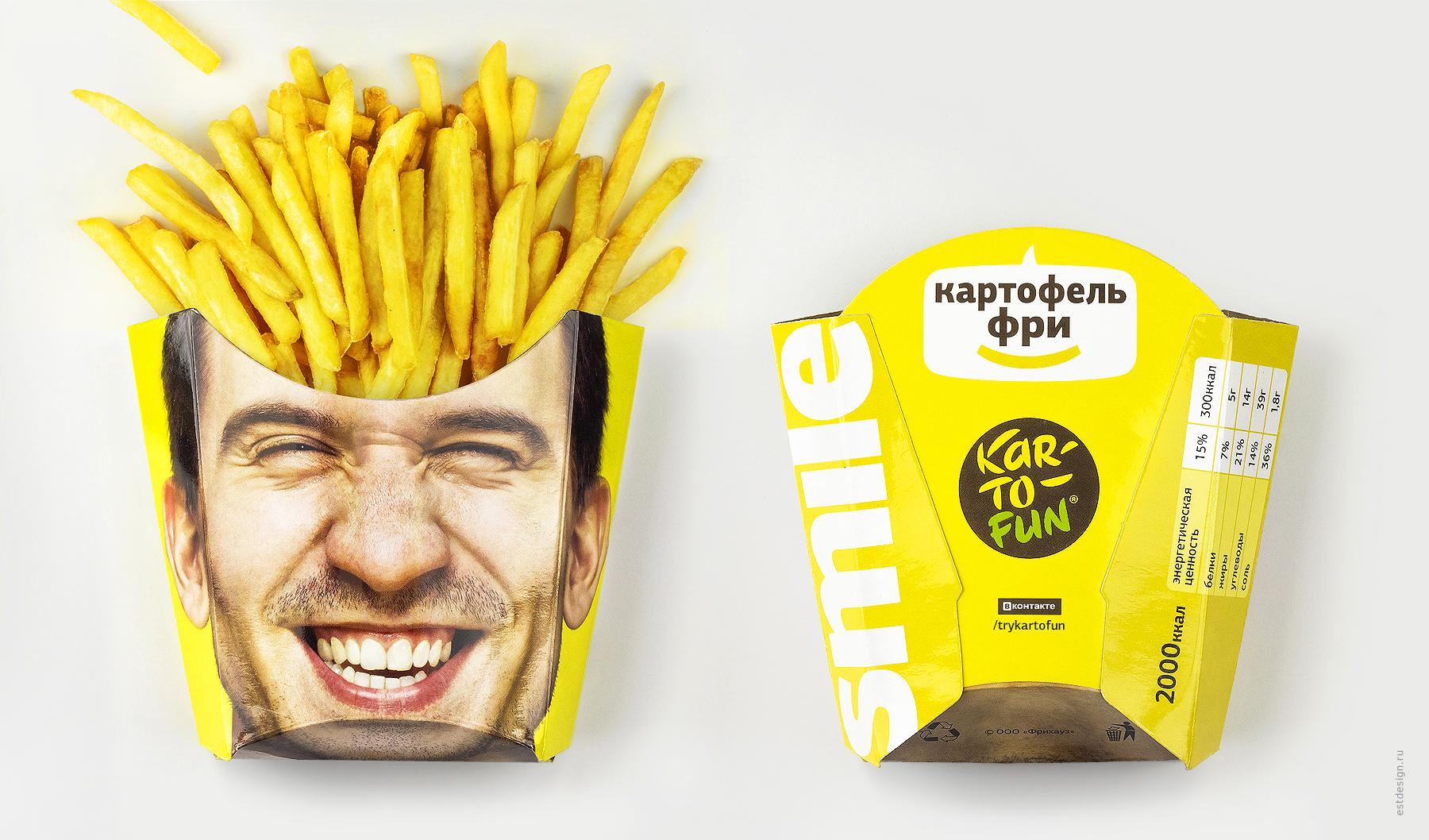 Картофель фри дизайн