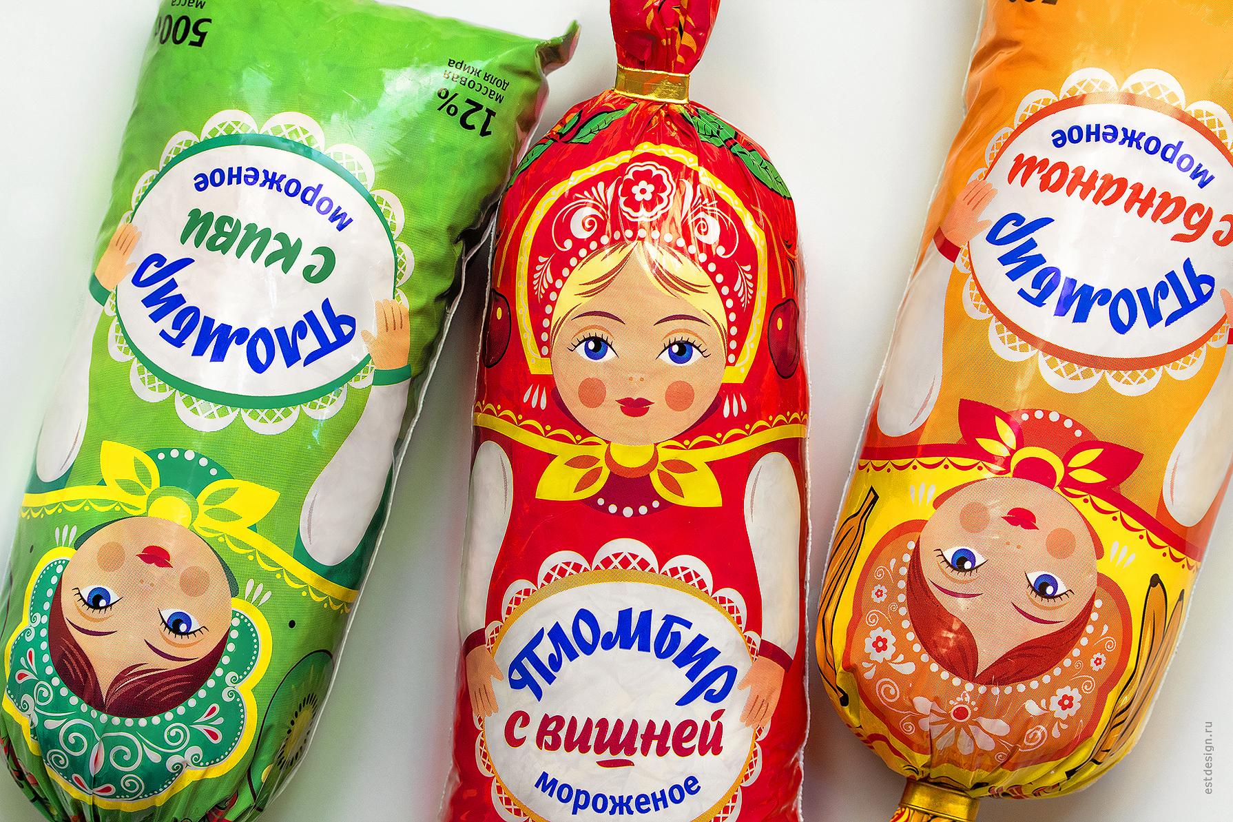 Мороженое матрешки